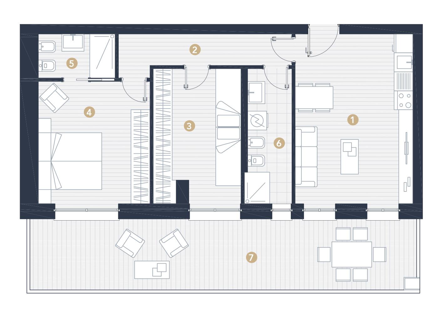 Progetto Appartamento 50 Mq mini appartamento 75mq jesolo lido - d type